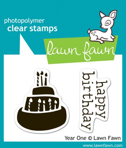 LF0346 S ~ YEAR ONE - BIRTHDAY CAKE ~ CLEAR STAMPS BY LAWN FAWN